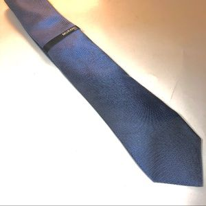 Murano Slim Silk Tie Blue NEW